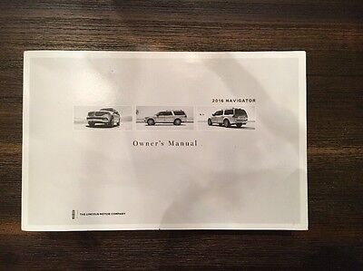 2016 Lincoln Navigator Owner Manual