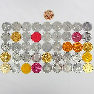 Lot of 46 Mardis Gras Doubloon Token Coins with Miscellaneous
