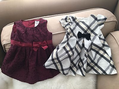 Carters Baby Girl Dresses - Set of 2 - Size 3 Months - NEW - Holiday - Adorable!