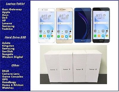 NEW Huawei Honor 8 GSM Factory Unlocked Smartphone 32GB or 64GB, SEALED