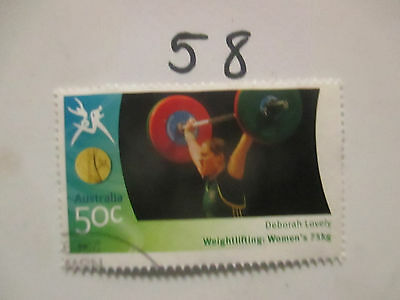 N o -58--2006 COMMONWEALTH  GAMES  -USED  50c  VALUES  ---A1  ORDER