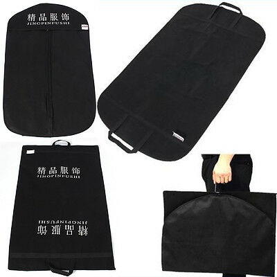 Black Suit Covers Garment Clothes Carrier Storage Protector Bag For Home Travel