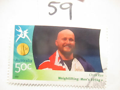 N o -59--2006 COMMONWEALTH  GAMES  -USED  50c  VALUES  ---A1  ORDER