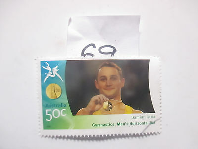 N o -69--2006 COMMONWEALTH  GAMES  -USED  50c  VALUES  ---A1  ORDER