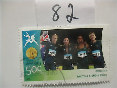 N o -82--2006 COMMONWEALTH  GAMES  -USED  50c  VALUES  ---A1  ORDER