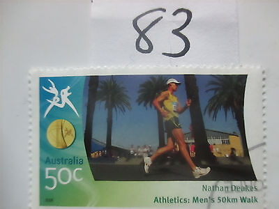 N o -83--2006 COMMONWEALTH  GAMES  -USED  50c  VALUES  ---A1  ORDER