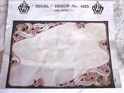 """~Vintage Regal Dressing Table Set - """"gum Nuts"""" - Started, Ready To Complete~"""