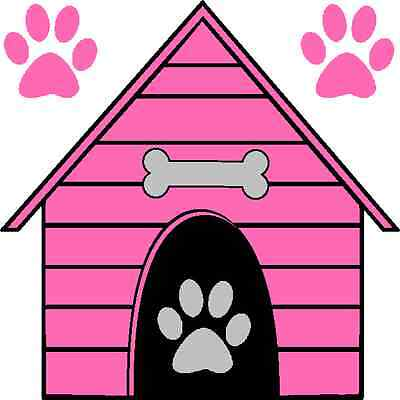 30 Custom Pink Dog House Personalized Address Labels