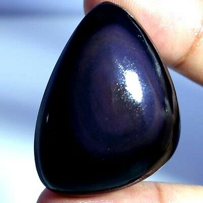 64.10Cts 100% NATURAL EYE DESIGNER RAINBOW OBSIDIAN FANCY CABOCHON TOP GEMSTONES