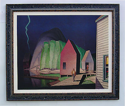 "Group of Seven, A. J. Casson ""PRELUDE"" Large Print in black Frame"
