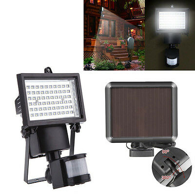 60LED Solar Motion Sensor Lights,Waterproof Solar Wall Lamp Garden