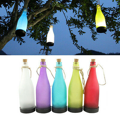 5x Color Solar Powered Light Hanging Patio Lamp Flame Effect