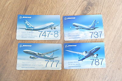 Four Boeing Aircraft Stickers