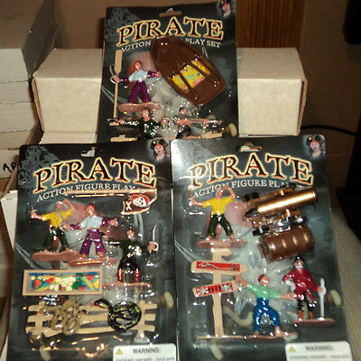 LOT of 3 PIRATE ACTION FIGURE PLAY SET(S)
