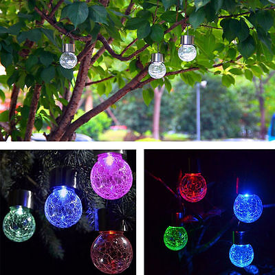 4X Solar Colour Changing Hanging Mosaic Lights Outdoor Garden
