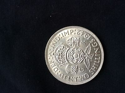 1942 George V1 Silver Florin High Grade (Pre 1947 Silver Coin) (Free Post UK)