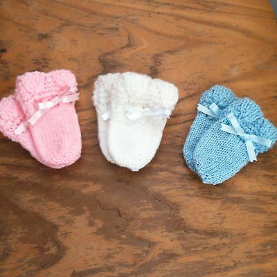 Hand Knitted ~ Baby Mittens ~ Choice of Colour and Size