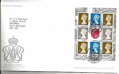 """2010 The Kings Stamps B-Let Pane """"with Bureau """" Hand Stamp See Scan"""