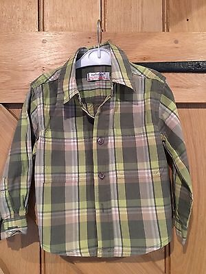 Early Days Green Checked Boys Shirt 18-23 Months