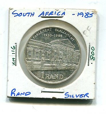South Africa : Silver 1 Rand 1985 Proof (KM 116)
