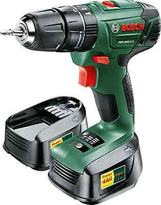 Bosch PSB 1800 LI-2 Cordless Lithium-Ion Hammer Drill Driver with Two 18 V Batte
