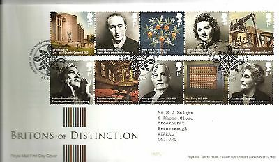 """2012 Britons Of Distiction """"with  Bureau """" Hand Stamp See Scan"""