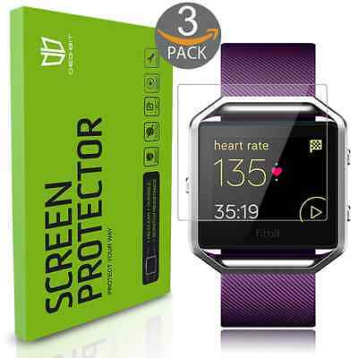 Fitbit Blaze Screen Protector Full coverage Fitbit Blaze Tempered Glass 3 Pack