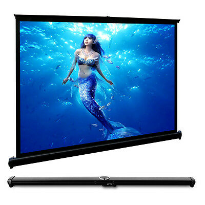Table Projection Screen Projector HD Home Cinema Canvas Matte White Portable 4:3