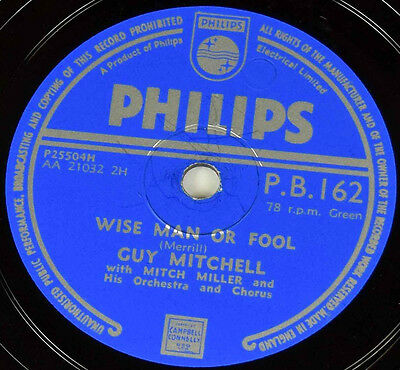 Schellack Guy Mitchell - Look at That Girl/Wise… Grammophon gramophone shellac