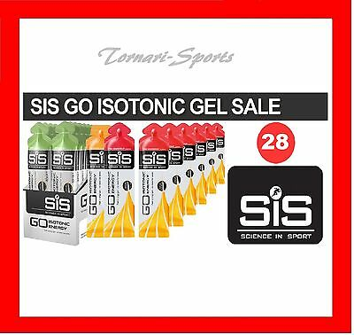 SiS 28 x Assorted GO Isotonic Sport Energy Gel Mixed Gels 60ml Cycling Running