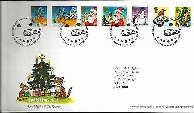 2012 Christmas With Bureau  Hand Stamp See  Scan