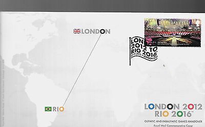 """2012 U/A OLYMPICS HAND OVER """"RIO- LONDON """"H-S No,5 IN BFDCs CATALOGUE"""