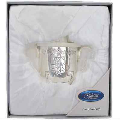 Juliana Christening Day Gift Silver plated Baby Beaker Cup Keep Sake Boxed New