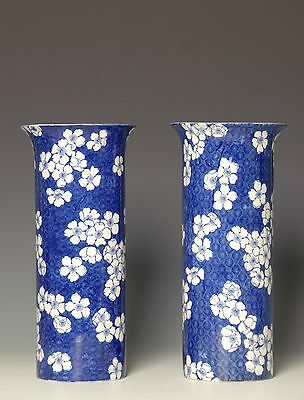 Lovely classic pair blue and white vintage vases