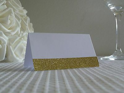 10-200 Elegant White And Gold Blank Place Cards For Wedding Parties Engagement