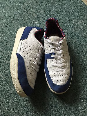 Lacoste White & Navy Men's Trainers Size 7.5/41