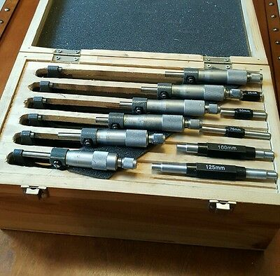 Boxed 6 Piece Micrometer set 0-150×0.01mm
