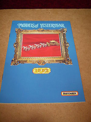 Matchbox Yesteryear Catalogue 1992 Uk Edition Excellent Condition