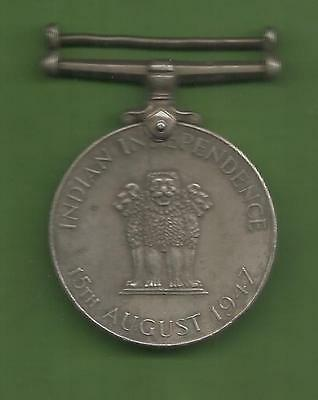 India - George Vi 15 Th August 1947 Named Medal British India