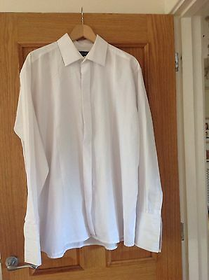 """white dress shirt size 17"""" by Double Two"""