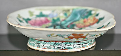1860s Antique Chinese Porcelain Plate Tung Chih Reign & Authenticity Wax Seal