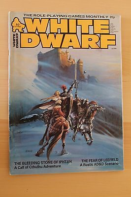 Classic WHITE DWARF issue 60 - UK Role playing magazine Dec 1984 AD&D Cthulhu
