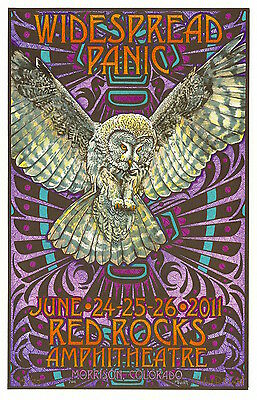 Widespread Panic Red Rocks 2011 Everett SIGNED Poster 18/25