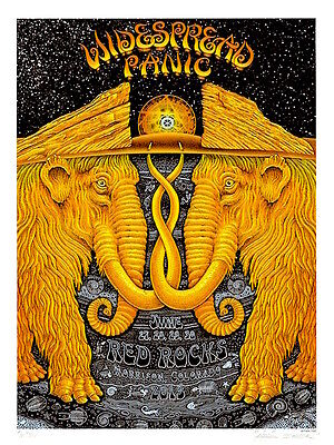 MINT EMEK 2013 Widespread Panic Red Rocks A/P Poster 47/50