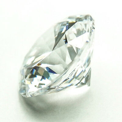1 Carat Round White Color My Russian Diamond Simulated Lab Created Loose Stone