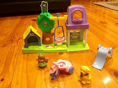 Fisher Price Little People  Play Yard With Dog House