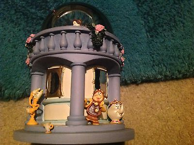 Disney Store Beauty And The Beast Very Rare Snow Globe! Must See! Excellent Cond