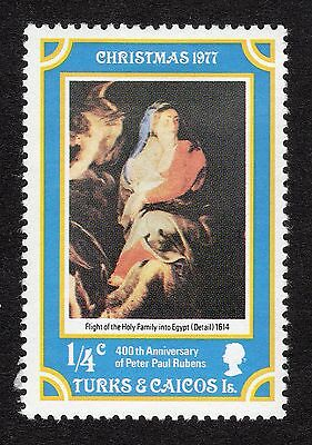1977 Turks & Caicos 0.25c Christmas 400th Anniv Rubens SG 482 Mounted M R18174