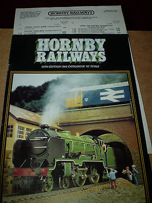 HORNBY MODEL RAILWAYS TOY CATALOGUE 1982 28th EDITION +P/LIST EXCELLENT FOR AGE