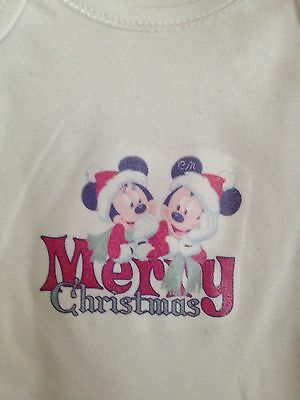 Two Baby Girls/boys Christmas All In One Long Sleeve Vests Age 6-9 Months New
